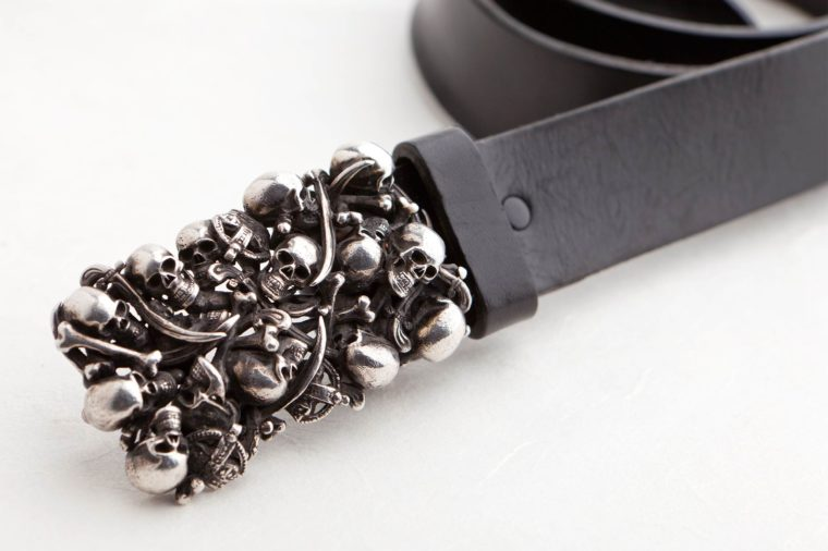 Gürtelschließe geschwärzt. 925 Silber geschwärzt. Herrenschmuck.